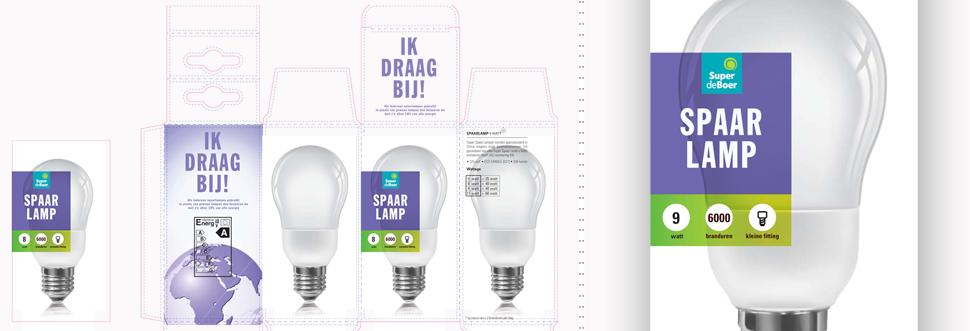 Romen Design Verpakkin Spaarlampen